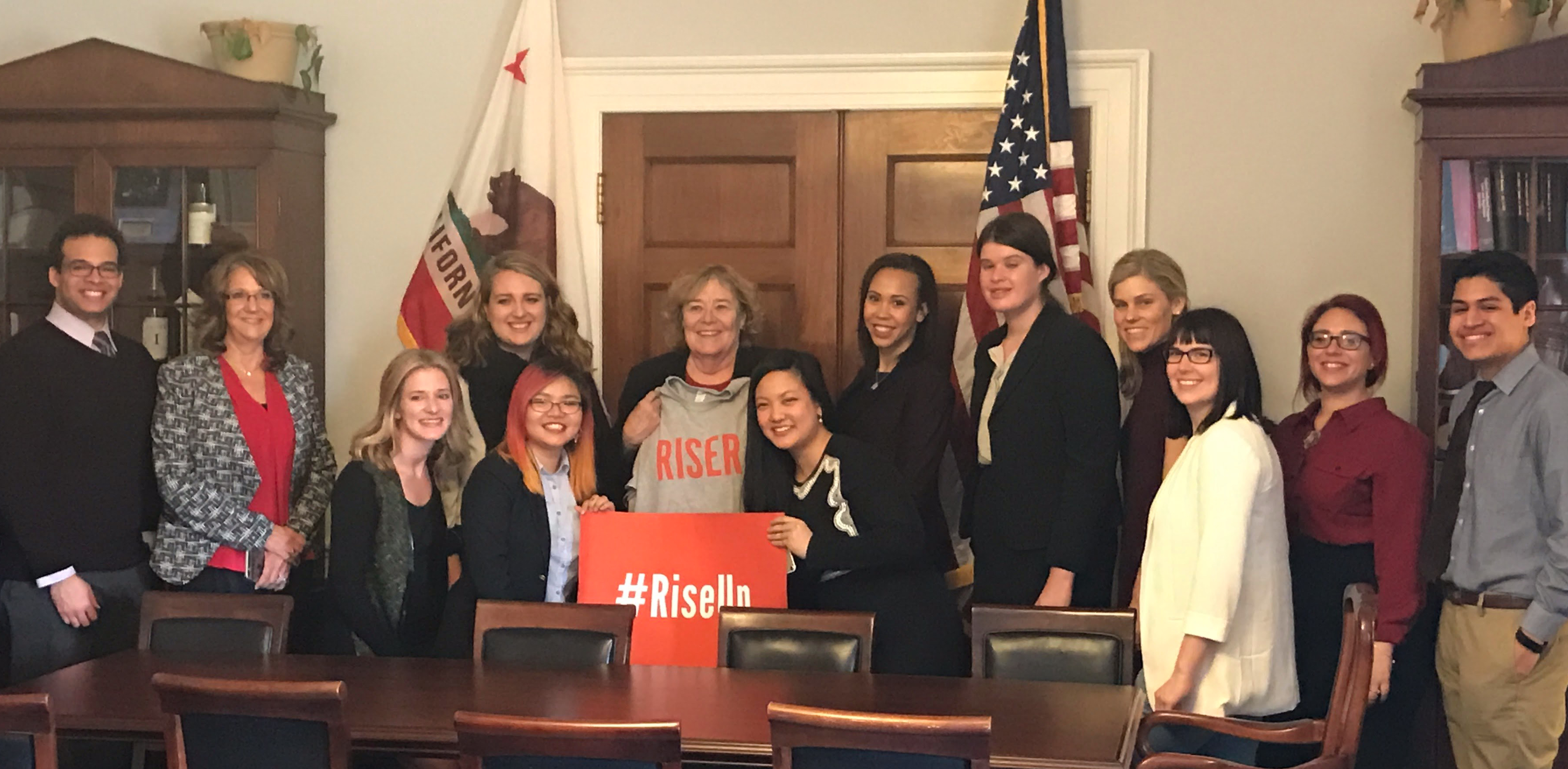 Risers with U.S. Representative Zoe Lofgren (D-CA) on Capitol Hill in Washington, D.C.